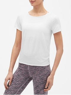 GapFit Short Sleeve Open-Back T-Shirt