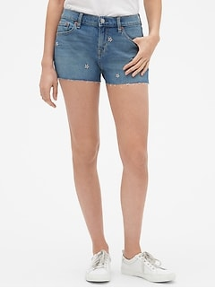 "Mid Rise 3"" Floral Denim Shorts"