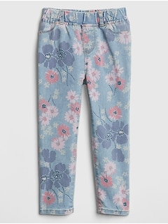 Superdenim Jeggings in Floral with Fantastiflex