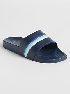Stripe Slide Sandals