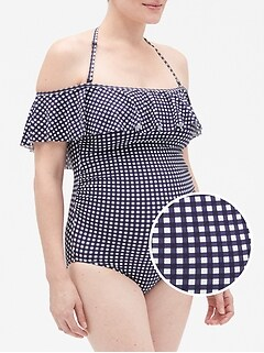 Maternity Ruffle Swim One-Piece