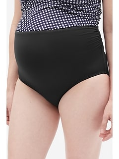Maternity Gathered Swim Bottom