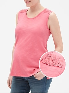 7ec41cf5188464 Maternity Embroidered Tank Top