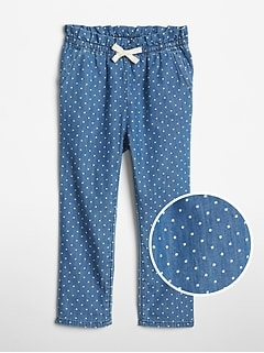 Toddler Dot Denim Pull-On Pants