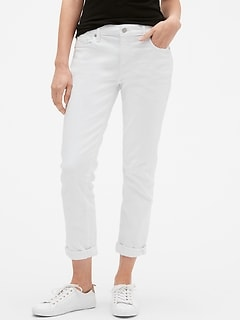 Mid Rise Sexy Boyfriend Jeans in Stretch