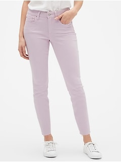 Mid Rise Colored Legging Skimmer Jeans