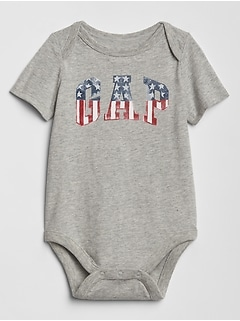 Baby Flag Gap Logo Bodysuit