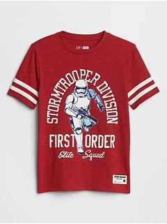 GapKids | Star Wars™ Contrast-Stripe Graphic T-Shirt