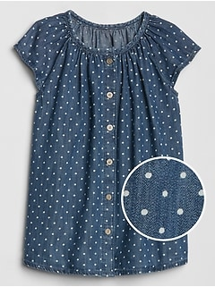 Print Denim Dress
