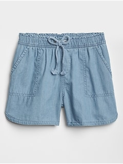 Kids Chambray Pull-On Shorts