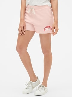Rainbow Gap Logo Shorts In French Terry