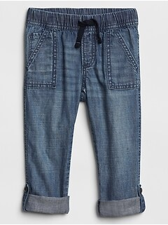 Pull-On Roll-Up Jeans
