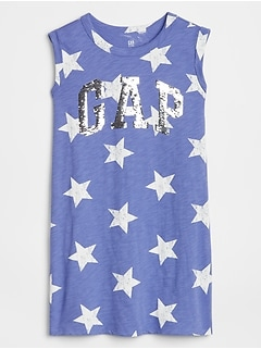 Kids Flippy Sequin Gap Logo Tank Dress