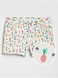Kids Print Shortie Shorts