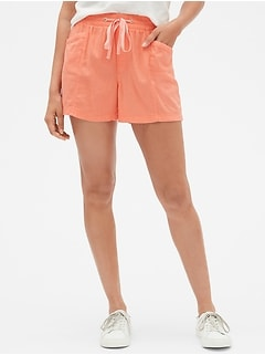 "3.5"" Pull-On Shorts in Linen-Rayon"
