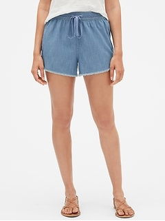 "3.5"" Chambray Drawstring Shorts"