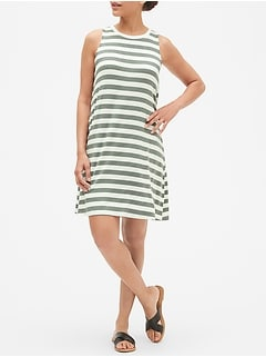 Crewneck Swing Dress in Rayon