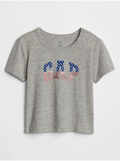 Toddler Flag Gap Logo Graphic T-Shirt