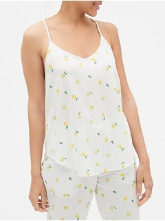 Print Cami in Cotton-Modal