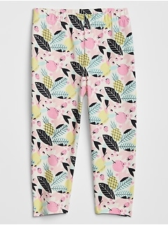 Toddler Print Cropped Leggings