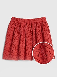 Kids Lace Flippy Skirt