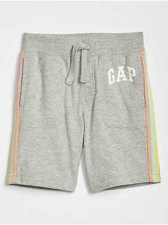 "Toddler 5"" Contrast-Stripe Gap Logo Shorts"