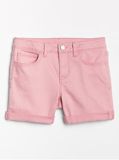 Kids Denim Midi Shorts in Color