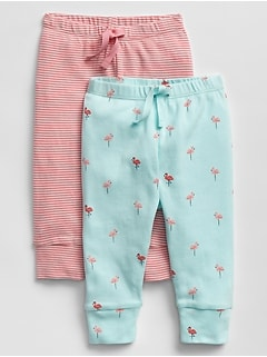 Baby First Favorite Print Knit Pants (2-Pack)
