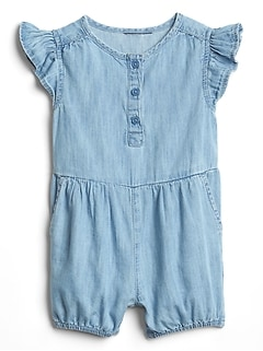 Baby Chambray Flutter One-Piece