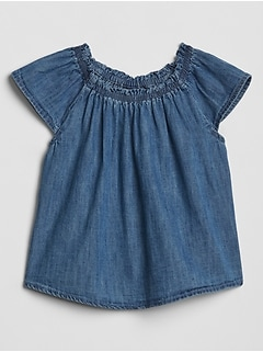 Baby Chambray Raglan Top