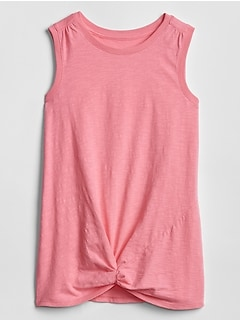 Kids Twist-Knot Hem Tank Top
