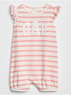 Stripe Logo Shorty One-Piece