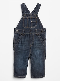 Baby Denim Overalls With Washwell™