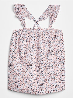 Kids Print Ruffle Tank Top