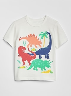 Toddler Dino Graphic Crewneck T-Shirt