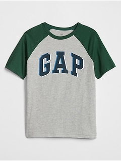 Kids Contrast Raglan Graphic T-Shirt