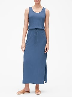 Tank Maxi Dress in Slub Jersey