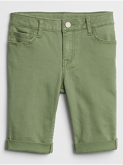 "Kids Mid Rise 10"" Bermuda Shorts in Color"