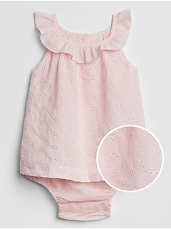 Eyelet Ruffle Body Double