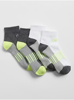 Kids Coolmax® Athletic Quarter Crew Socks (2-Pack)