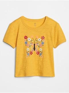 Toddler Embellished Crewneck Graphic T-Shirt