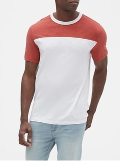 Slub Jersey Colorblock T-Shirt