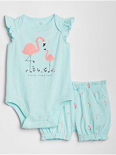 Baby Bodysuit Short Set