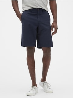 "10"" Chino Shorts in Linen-Cotton"
