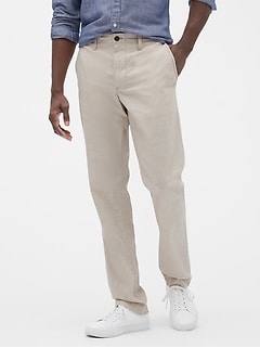Linen Pants in Straight Fit with GapFlex