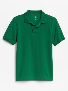 Kids Uniform Pique Polo