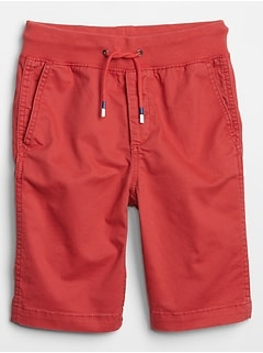 Kids Pull-On Flat Front Shorts