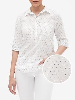 Print Dobby Popover Shirt