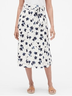 Print Maxi Skirt in Rayon