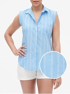 Stripe Roll Cuff Shirt